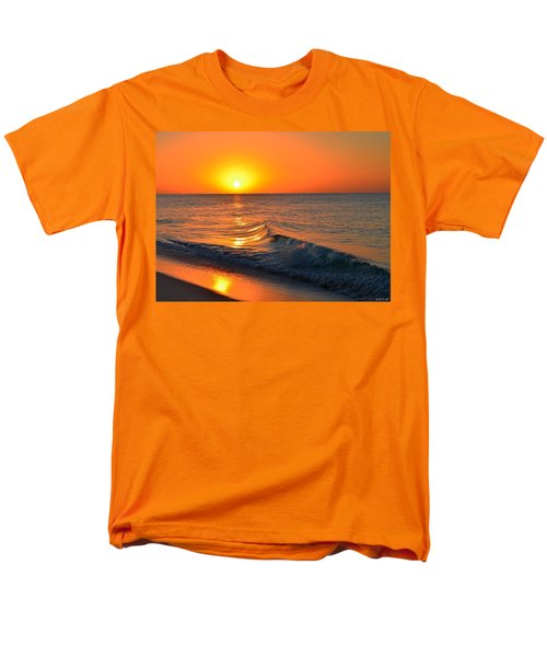 Calm And Clear Sunrise On Navarre Beach With Small Perfect Wave Men's T-Shirt  (Regular Fit) by Jeff at JSJ Photography