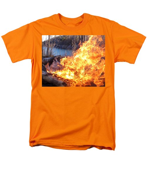 Men's T-Shirt  (Regular Fit) featuring the photograph Campfire by James Peterson