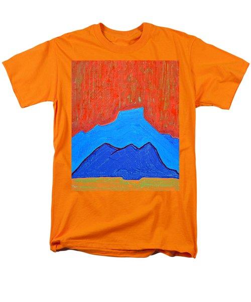Cerro Pedernal Original Painting Sold Men's T-Shirt  (Regular Fit) by Sol Luckman