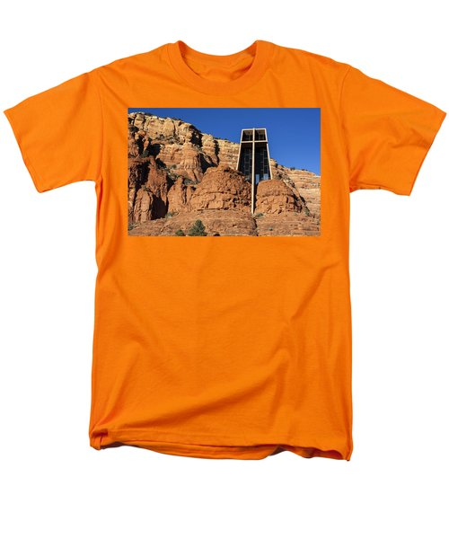 Chapel Of The Holy Cross Men's T-Shirt  (Regular Fit) by Fred Larson