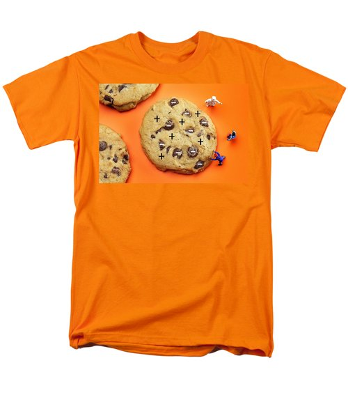 Men's T-Shirt  (Regular Fit) featuring the photograph Chef Depicting Thomson Atomic Model By Cookies Food Physics by Paul Ge