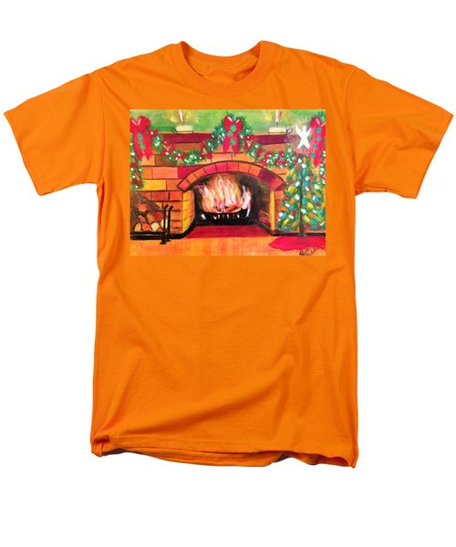 Christmas At The Cabin Men's T-Shirt  (Regular Fit) by Renee Michelle Wenker