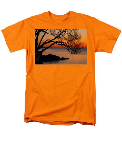 Colorful Quiet Sunrise On Lake Ontario In Toronto Men's T-Shirt  (Regular Fit) by Georgia Mizuleva