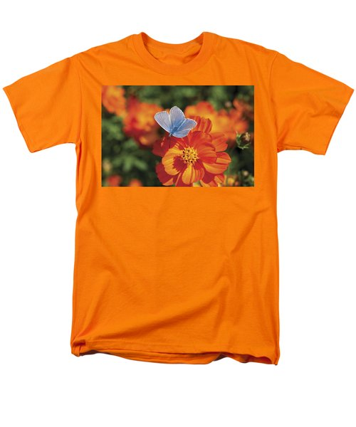 Men's T-Shirt  (Regular Fit) featuring the photograph Common Blue Butterfly by Lana Enderle