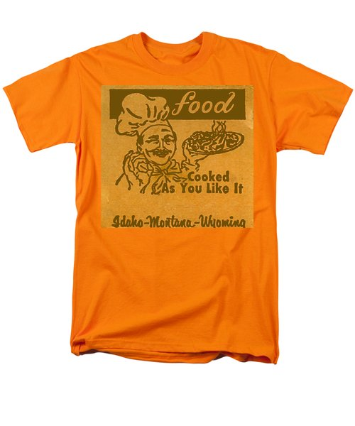 Men's T-Shirt  (Regular Fit) featuring the digital art Cooked As You Like It by Cathy Anderson