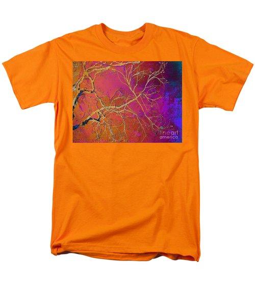 Crackling Branches Men's T-Shirt  (Regular Fit) by Meghan at FireBonnet Art