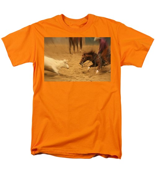 Cutting Horse 8 Men's T-Shirt  (Regular Fit) by Lynn Sprowl