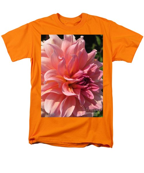 Men's T-Shirt  (Regular Fit) featuring the photograph Dahlia Named Fire Magic by J McCombie