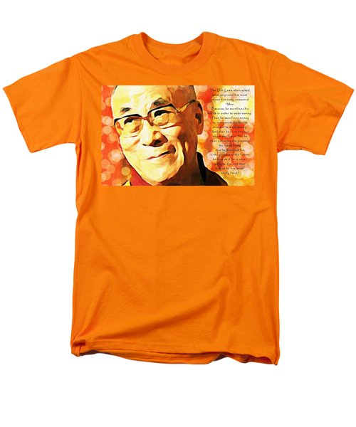 Dali Lama And Man Men's T-Shirt  (Regular Fit) by Barbara Chichester