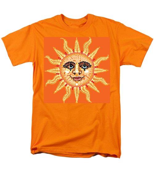 Men's T-Shirt  (Regular Fit) featuring the digital art Dazzling Sun by R  Allen Swezey