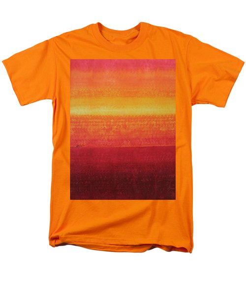 Desert Horizon Original Painting Men's T-Shirt  (Regular Fit) by Sol Luckman