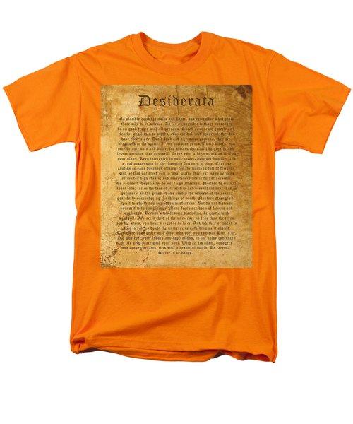 Desiderata Men's T-Shirt  (Regular Fit) by Kurt Van Wagner