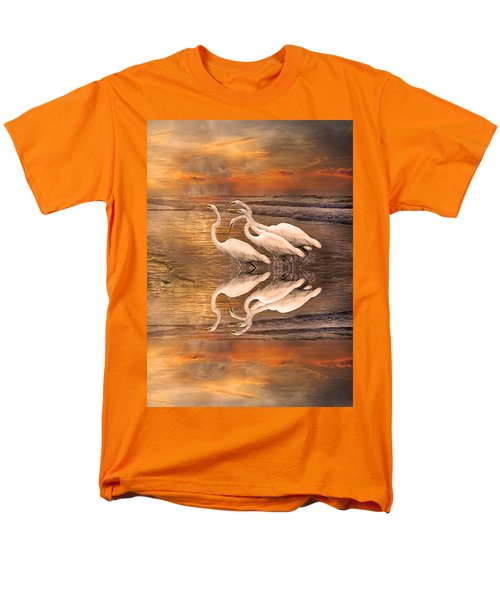 Dreaming Of Egrets By The Sea Reflection Men's T-Shirt  (Regular Fit) by Betsy Knapp