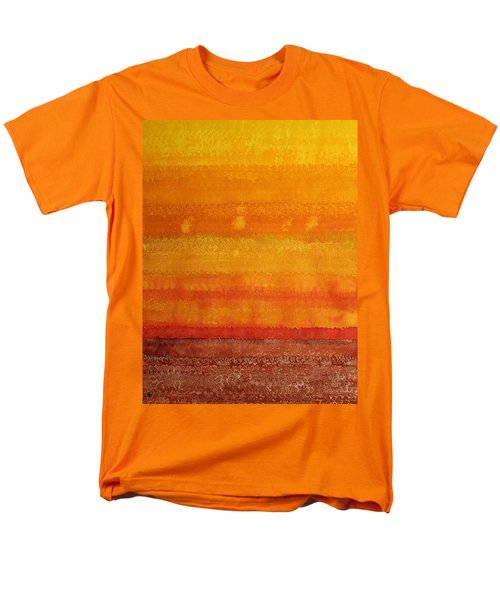 Earth And Sky Original Painting Men's T-Shirt  (Regular Fit) by Sol Luckman