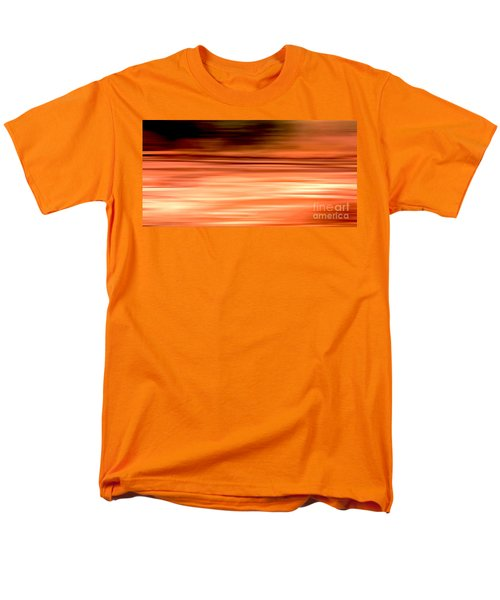 Abstract Earth Motion Burnt Orange Men's T-Shirt  (Regular Fit) by Linsey Williams