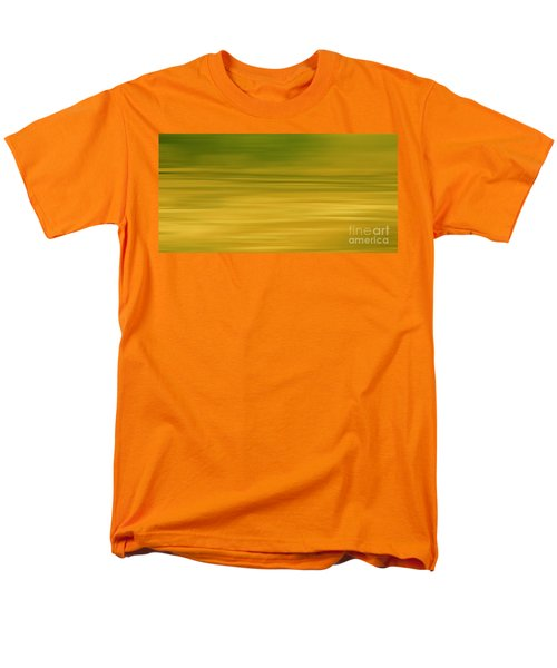 Abstract Earth Motion Lemon Grass Men's T-Shirt  (Regular Fit) by Linsey Williams