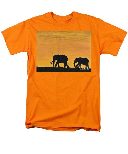 Elephants - At - Sunset Men's T-Shirt  (Regular Fit) by D Hackett