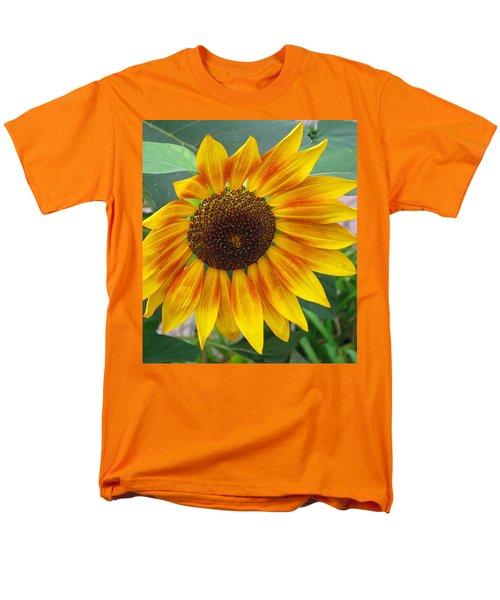 Men's T-Shirt  (Regular Fit) featuring the photograph End Of Summer Sunflower by Barbara McDevitt