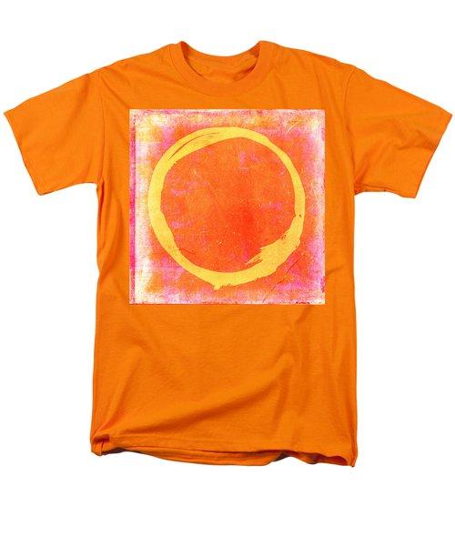 Enso No. 109 Yellow On Pink And Orange Men's T-Shirt  (Regular Fit) by Julie Niemela