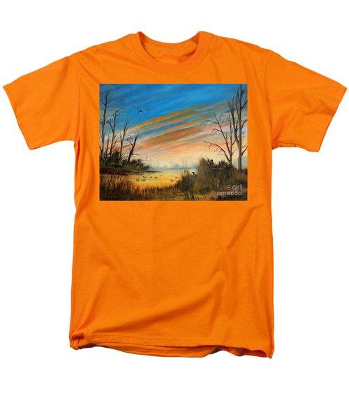 Evening Duck Hunt Men's T-Shirt  (Regular Fit) by Bill Holkham