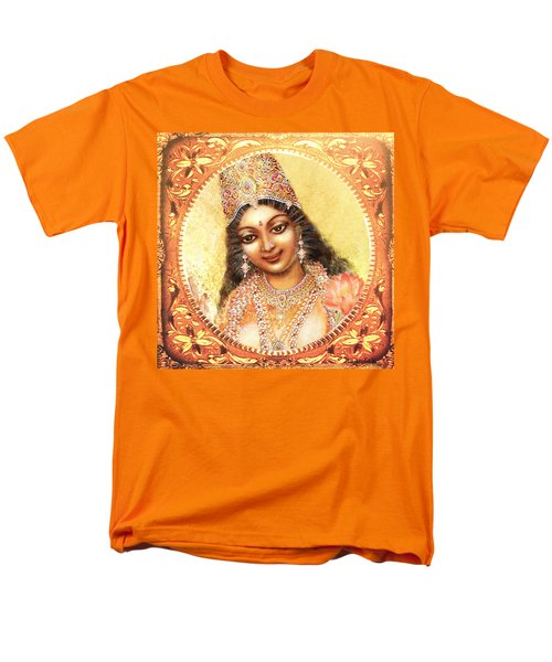 Men's T-Shirt  (Regular Fit) featuring the mixed media Face Of The Goddess - Lalitha Devi  by Ananda Vdovic