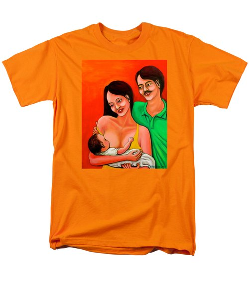 Men's T-Shirt  (Regular Fit) featuring the painting Family by Cyril Maza