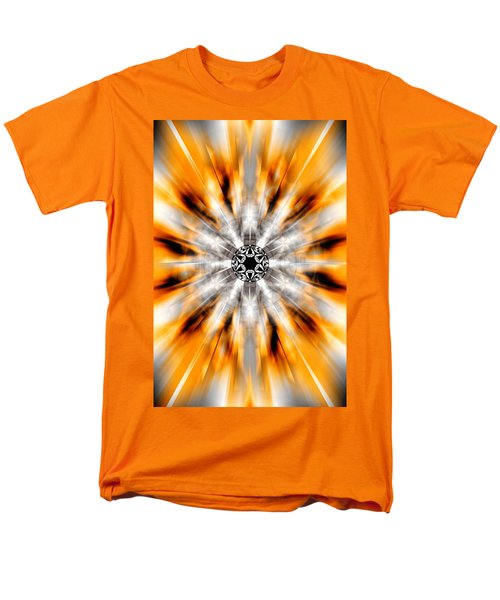 Men's T-Shirt  (Regular Fit) featuring the drawing Flower Grid Sixty-three by Derek Gedney