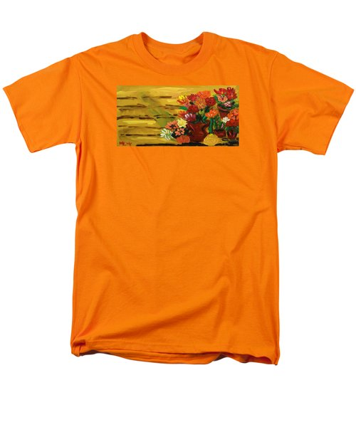 Flowers At The Side Of The House Men's T-Shirt  (Regular Fit) by Mary Carol Williams