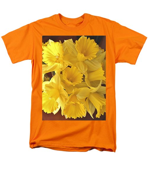 Men's T-Shirt  (Regular Fit) featuring the photograph Flurry Of Daffodils by Diane Alexander