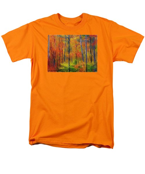 Men's T-Shirt  (Regular Fit) featuring the painting Forest In The Fall by Bruce Nutting