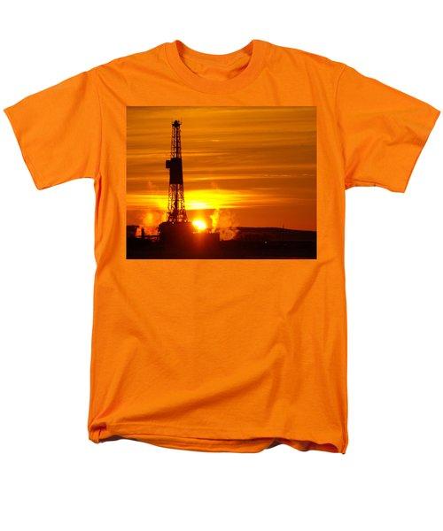 Frontier Nineteen Xto Energy Culbertson Montana Men's T-Shirt  (Regular Fit) by Jeff Swan