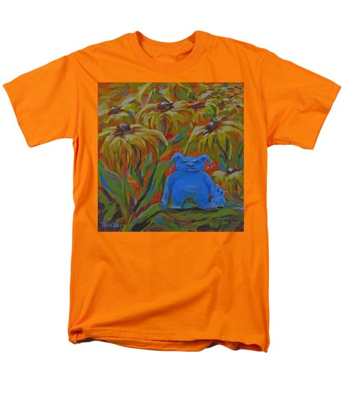 Men's T-Shirt  (Regular Fit) featuring the painting Garden Secrets by Karen Ilari