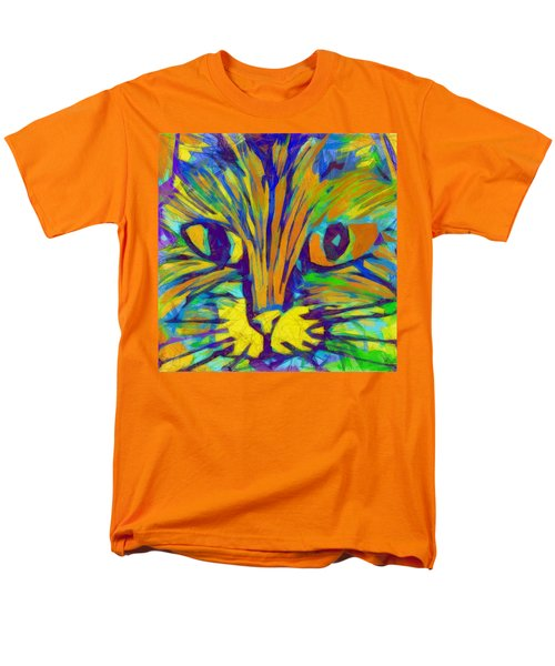 Ginger Kitty Men's T-Shirt  (Regular Fit) by Michelle Calkins