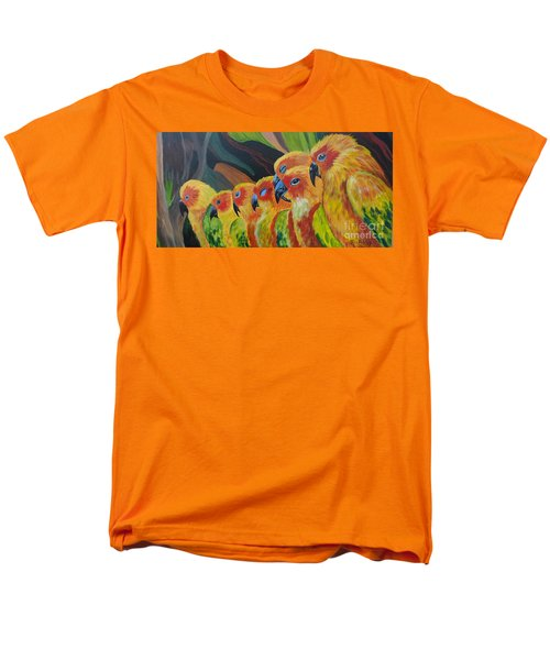 Men's T-Shirt  (Regular Fit) featuring the painting Girl Watching by Julie Brugh Riffey