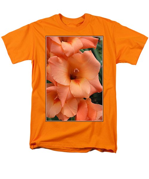 Gladiola In Peach Men's T-Shirt  (Regular Fit) by Dora Sofia Caputo Photographic Art and Design