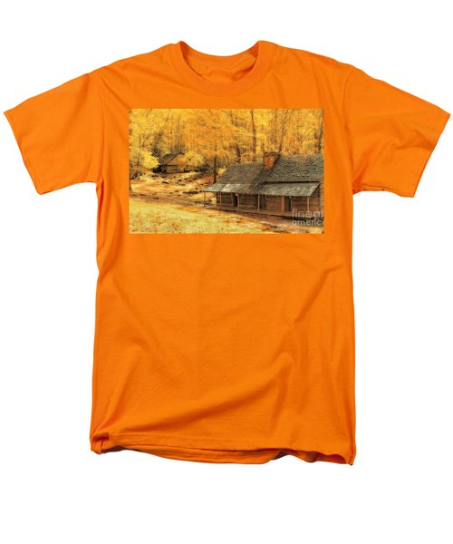 Men's T-Shirt  (Regular Fit) featuring the photograph Golden Dream Home by Geraldine DeBoer