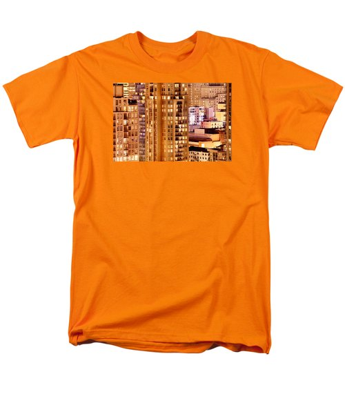 Men's T-Shirt  (Regular Fit) featuring the photograph Golden Vancouver Cityscape Cdxii By Amyn Nasser by Amyn Nasser