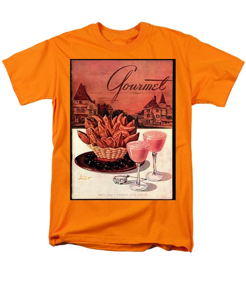 Gourmet Cover Featuring A Basket Of Potato Curls Men's T-Shirt  (Regular Fit) by Henry Stahlhut