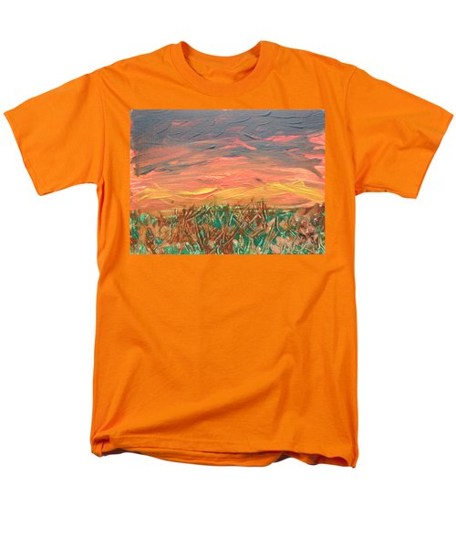 Grassland Sunset Men's T-Shirt  (Regular Fit) by David Trotter