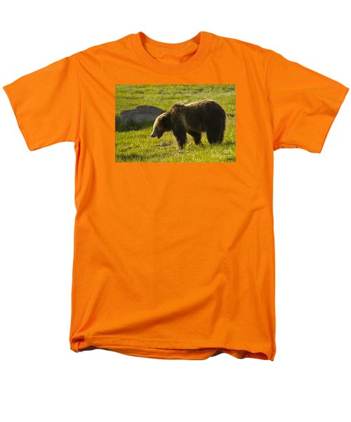 Grizzly Bear-signed-#4535 Men's T-Shirt  (Regular Fit) by J L Woody Wooden