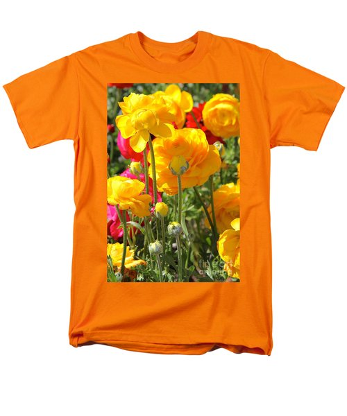 Growth Of A Ranunculus Men's T-Shirt  (Regular Fit) by Suzanne Oesterling