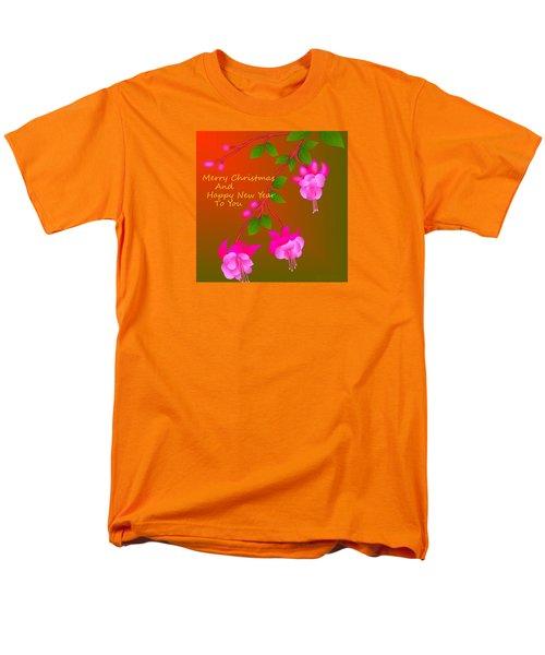Men's T-Shirt  (Regular Fit) featuring the digital art Happy Holidays by Latha Gokuldas Panicker