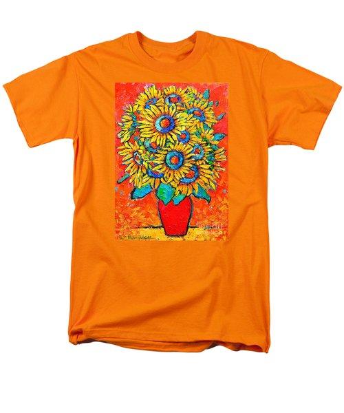 Happy Sunflowers Men's T-Shirt  (Regular Fit) by Ana Maria Edulescu