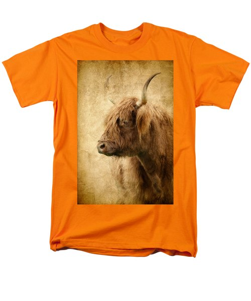 Highland Bull Men's T-Shirt  (Regular Fit) by Athena Mckinzie
