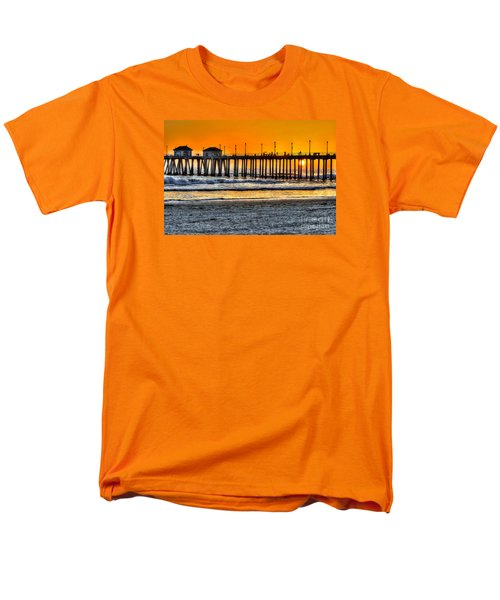 Men's T-Shirt  (Regular Fit) featuring the photograph Huntington Beach Sunset by Jim Carrell