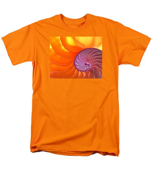 Illuminated Translucent Nautilus Shell With Spiral Men's T-Shirt  (Regular Fit) by Phil Cardamone