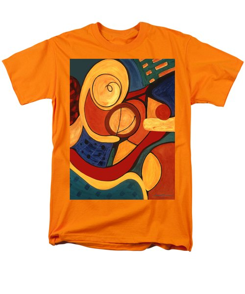 Men's T-Shirt  (Regular Fit) featuring the painting Illuminatus 3 by Stephen Lucas