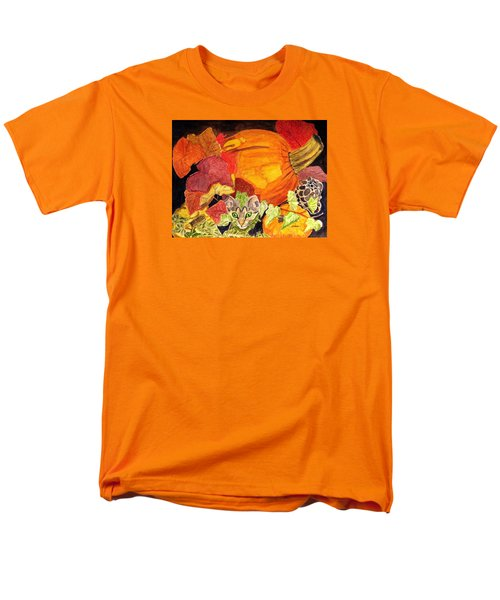 Men's T-Shirt  (Regular Fit) featuring the painting I'm Hiding In The Pumpkin Patch by Angela Davies