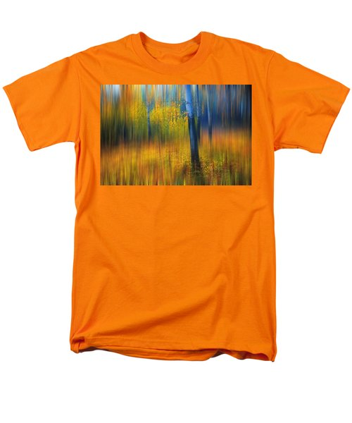 In The Golden Woods. Impressionism Men's T-Shirt  (Regular Fit) by Jenny Rainbow