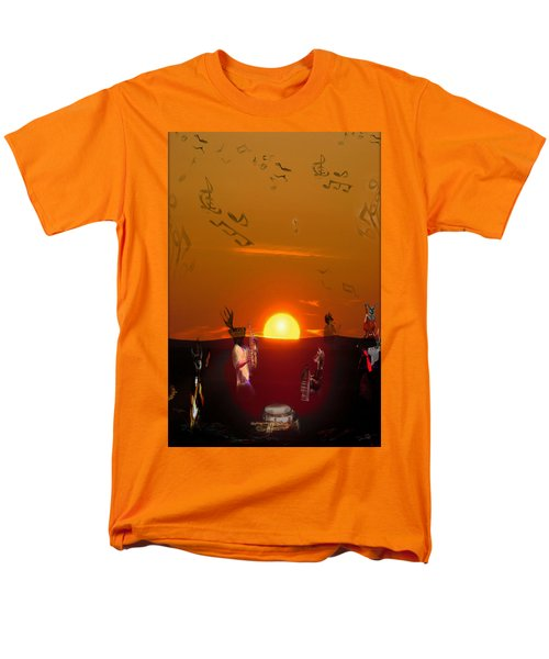 Men's T-Shirt  (Regular Fit) featuring the digital art Jazz Fest by Cathy Anderson
